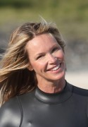 Elle Macpherson surfing in Byron Bay, Australia, 3 January, x27