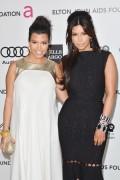 Ким Кардашиан, фото 7950. Kim Kardashian Elton John AIDS Foundation Academy Awards Party - 02/26/12*with sister Kourtney, foto 7950,