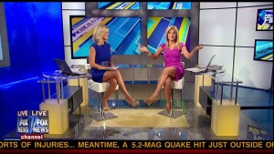 Blonde Bombshell Leggy News Babes - Ainsely Earhardt &amp;amp; Anna Kooiman